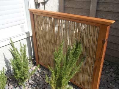 Bamboescherm voor buitenunit