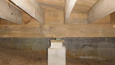 Houten constructievloer isoleren