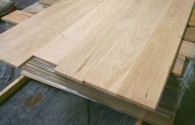 Voorbeeld van massief houten vloerplanken