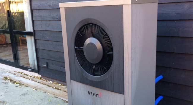 Monobloc warmtepomp bij minder ruimte