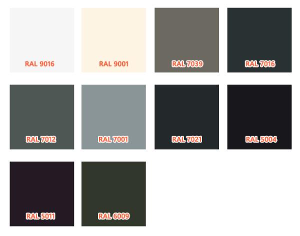 Welke RAL kleuren zijn populair voor schuifpuien