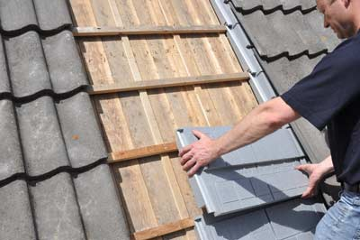 RecaPan EPS elementen op een schuin dak