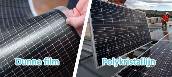 Wat is het verschil tussen dunne film panelen en standaard kristallijn zonnepanelen?