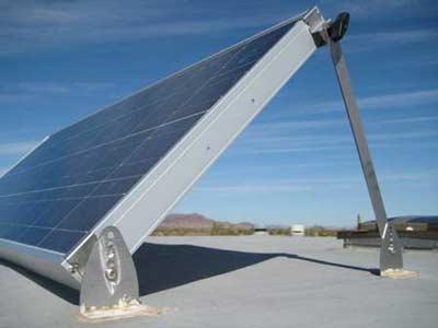Verstelbare hellingshoek voor zonnepanelen