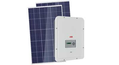 Omvormer voor zonne-energie om te zetten naar stroom