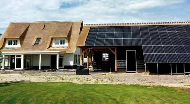 Energie opwekken met een rieten dak